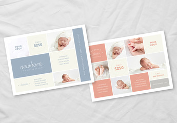 Newborn Photography Pricing Guide Layout