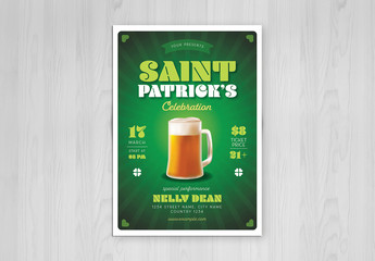 Saint Patrick Celebration Flyer Layout