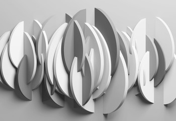 Abstract monochrome background, 3d art