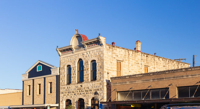 Historical downtown small town Kerrville in the Texas hill country