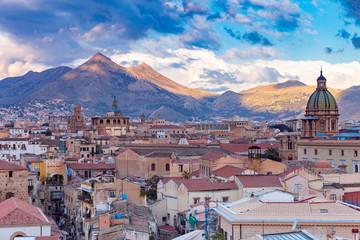 Aluminium Prints Palermo Palermo. Aerial view of the city.