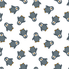 Baby penguin seamless wallpaper pattern vector illustration