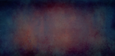 Fototapete - Dark abstract blue red and purple background with old grunge texture and dark cloudy borders in elegant distressed metal or banner illustration