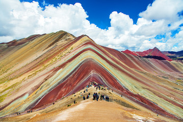 Poster Rainbow mountains or Vinicunca Montana de Siete Colores