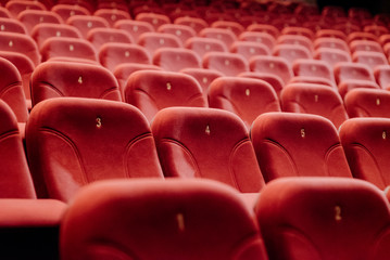 empty theater chairs in the theater Fotomurales