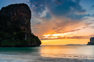 Printed roller blinds Island Sunset on Railay Beach West, Krabi, Thailand