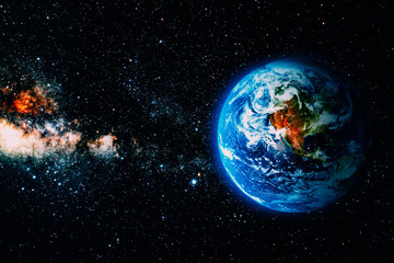 Wall Mural - View of the earth from the moon.