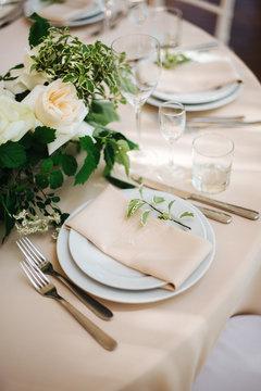 romantic dinner table settings