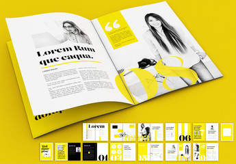 Yellow and Black Magazine Layout