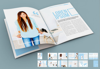 Light Blue and White Presentation Layout