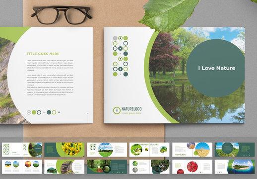 Nature Brochure Layout with Circle Image Masks
