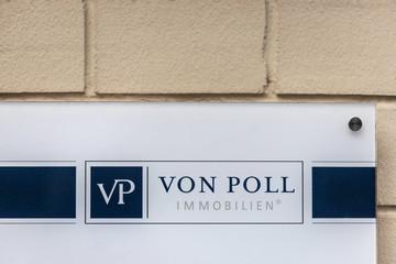 giessen, hesse/germany - 20 01 2020: von poll sign in giessen germany