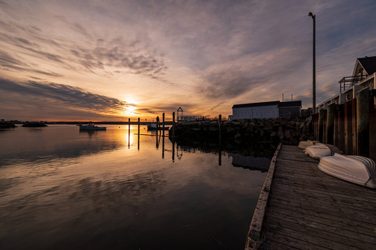 Sunset in Biddeford Pool Harbor - Biddeford, Maine.