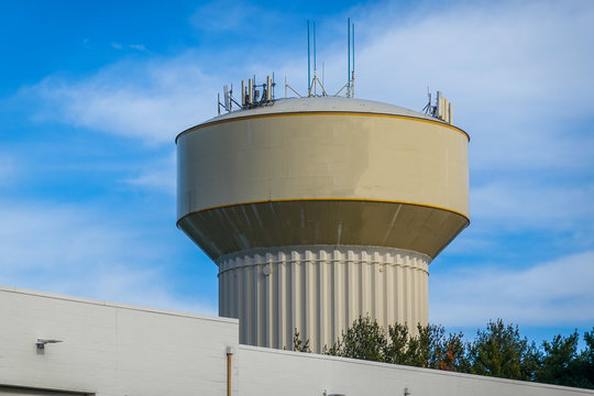 Township municipal clean water storage tower