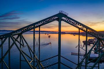 Fototapete - Astoria Sunrise Aerial