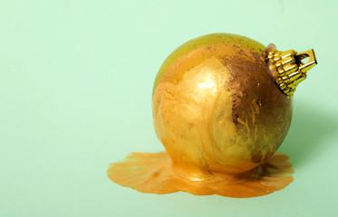Art golden ball.