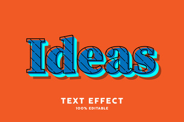 Blue pop art on orange text effect