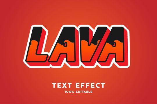 Lava text effect, font effect, alphabets, text style, letters, typography