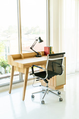 table and chair for working space at home