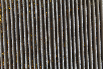 old dirty carbon air filter