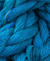 Thick blue nautical cord