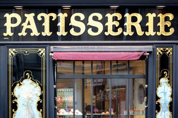 Paris, France - September 24, 2013: Traditional elegant Patisserie shop in the St. Germain district of Paris
