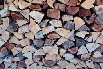 Canvas Prints Firewood texture Woodpile