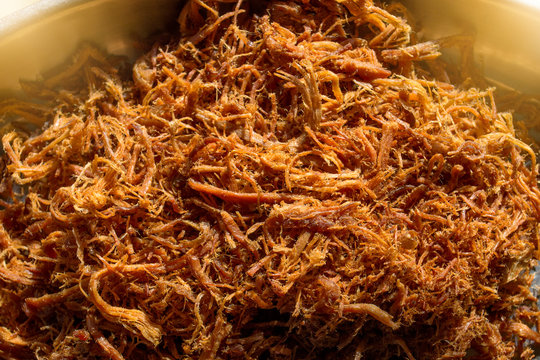 Shredded pork is a side dish and snack.
