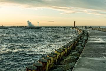 Hafen im Darlowko Ostsee in Polen