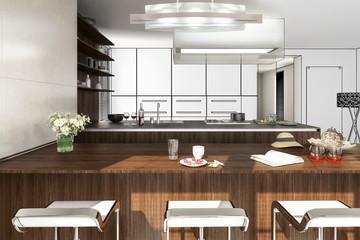 Modern Kitchen Arrangement (plan)