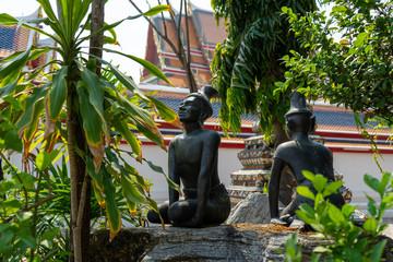 タイ 寺院にある石像