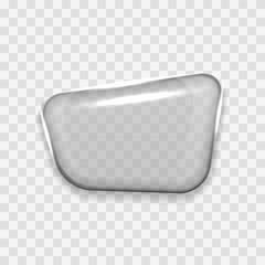 Transparent Glass Shape Speech Bubble Icon