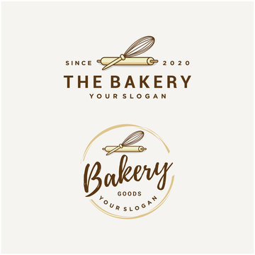 bakery vector logo design template