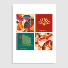Cityscape catalog design. Vector illustration.
