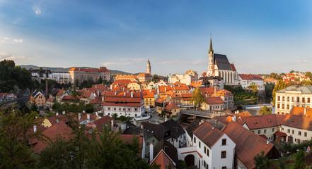 Beautiful panorama of castle in Cesky Krumlov, Czech republic