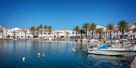 Wall Mural - Fishing port of Fornells in Menorca, Balearic islands, Spain
