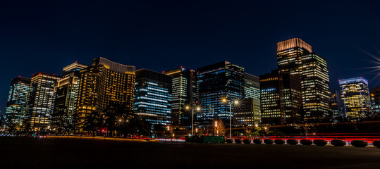Photo sur Aluminium Tokyo 東京駅周辺の夜景 丸の内 日比谷 ~ Night View of Tokyo Station Hibiya Marunouchi ~