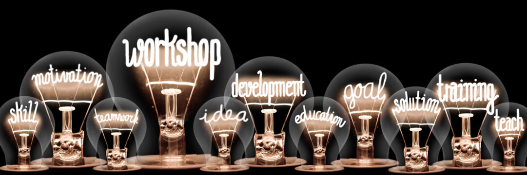 Light Bulbs with Workshop Concept