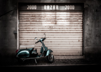 Vespa on the street of Italy