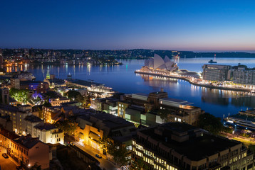 Fotomurales - sunrise, Aerial view of Sydney with Harbour Bridge, Australia
