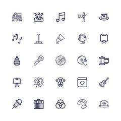 Editable 25 studio icons for web and mobile