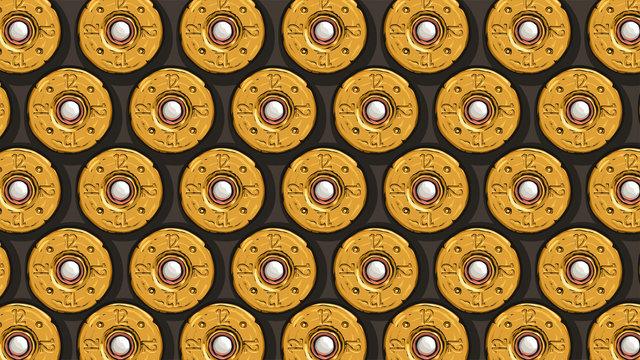 yellow shotgun shells back view