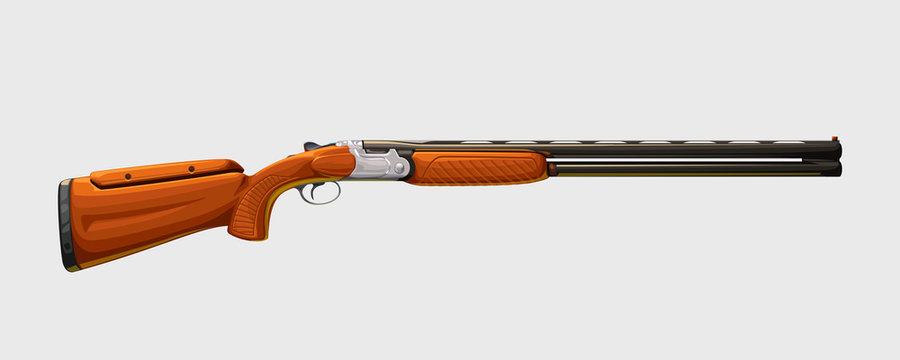 realistic classic shotgun side view