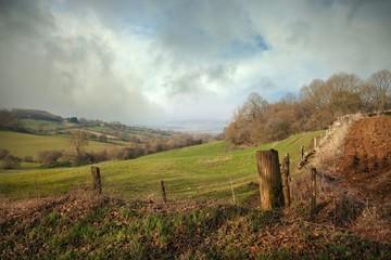Landscape near Farmcote, Cotswolds, Gloucestershire, England