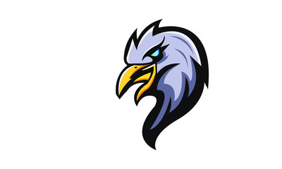 Eagle mascot gaming logo design vector with modern illustration concept style for badge, emblem, sticker and t shirt printing. Angry Bird illustration for sport team.