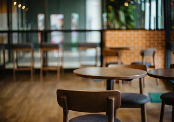 Zelfklevend Fotobehang Restaurant Chair Interior of a modern restaurant or bar
