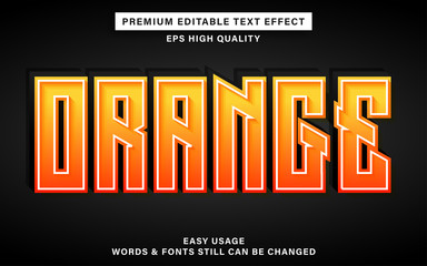 Wall Mural - Orange text effect