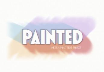 Paint Brushtroke Text Effect