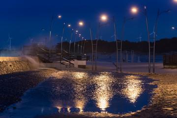Beleuchtung am Strand in Darlowko