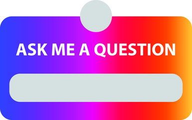 ask me a question, vector illustration Wall mural